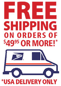 Free Shipping in the USA for Retail orders $49.95