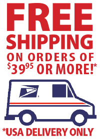 Free Shipping in the USA for Retail orders $39.95
