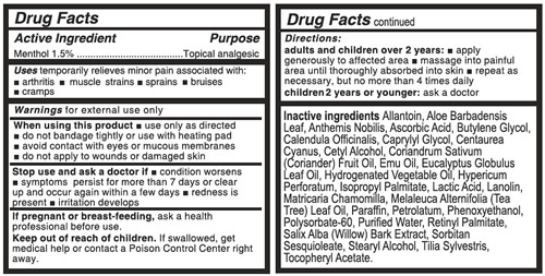 <span class='notranslate'>Real Time Pain Relief</span> Drug Facts