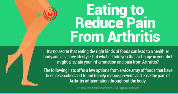 Eating to reduce pain from arthritis.